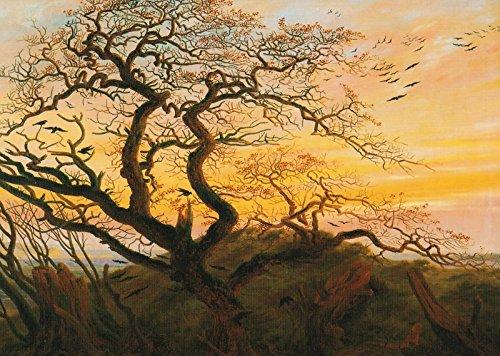 "Kahler Baum an der Küste Rügens Kunstkarte Caspar David Friedrich /""Rabenbaum /"""
