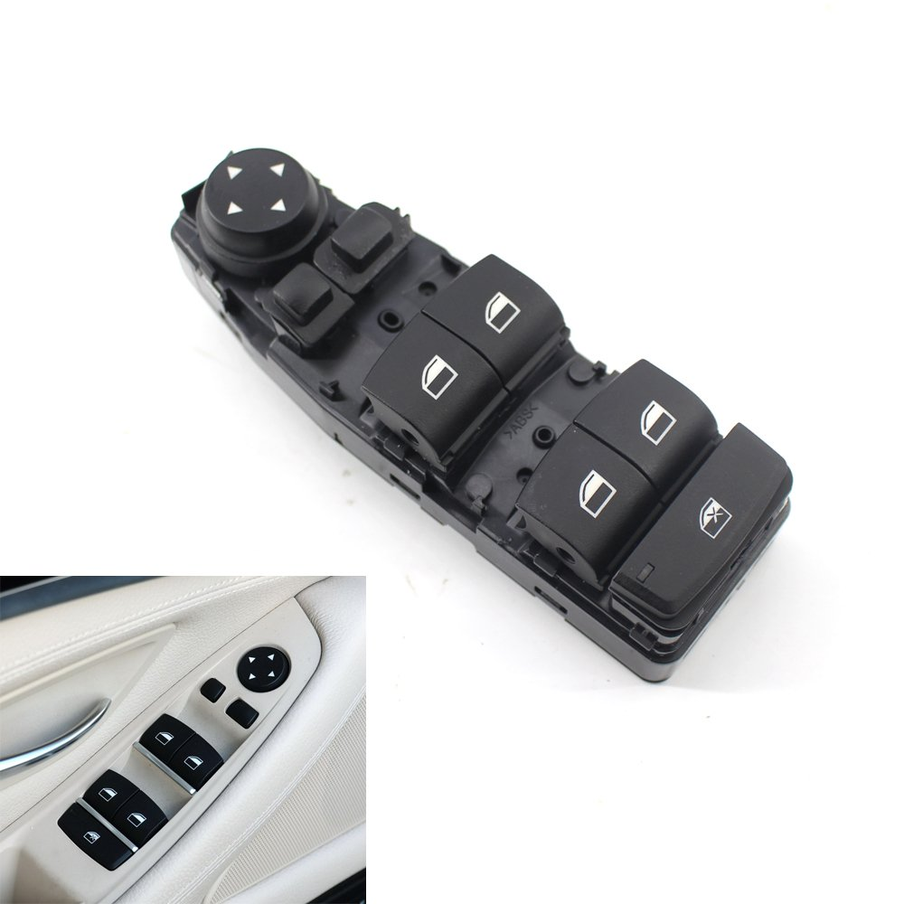 BMW F10 F18 Master Window Switch Panel Front Main Switch OEM Part Number: 61319241955 for 528i, 528i xDrive,535d,535d xDrive Keyfobworld