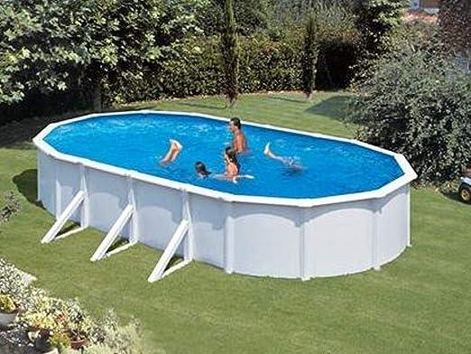 Summer Fun Piscina de Pared de Acero Grandy Ovalada, 3, 75 m x 6, 10 m x 1, 20 m, Piscinas Individuales ovaladas, Incluye Skimmer: Amazon.es: Jardín