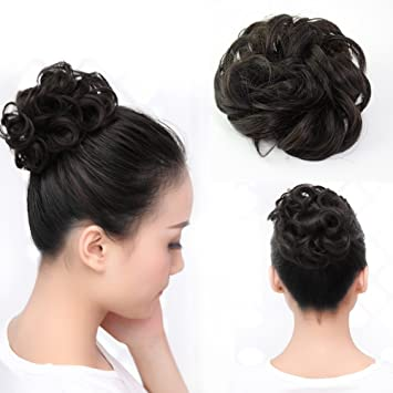 Amazon Com Beauty Angelbella Lovely Scrunchie Updos Synthetic