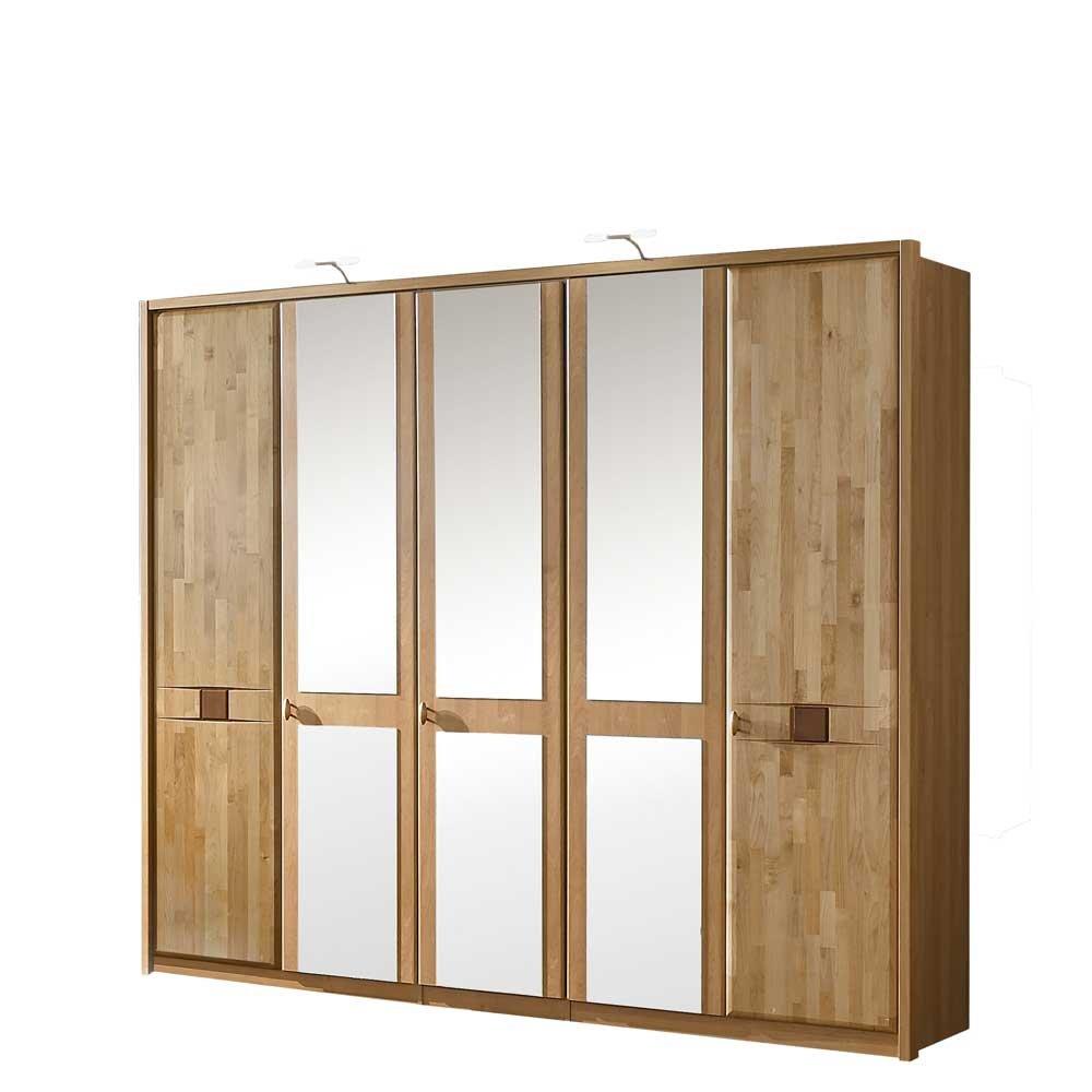 Schlafzimmerschrank Kara mit Spiegeltüren Breite 256 cm Höhe 220 cm ...