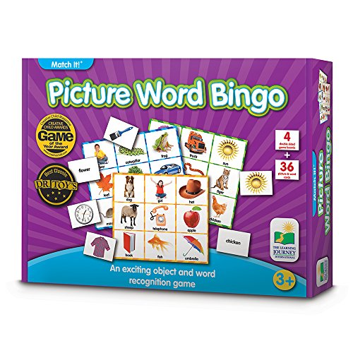 Word Match - The Learning Journey Match It! Bingo - Picture Word - Reading Game for Preschool and Kindergarten 36 Picture Word Cards