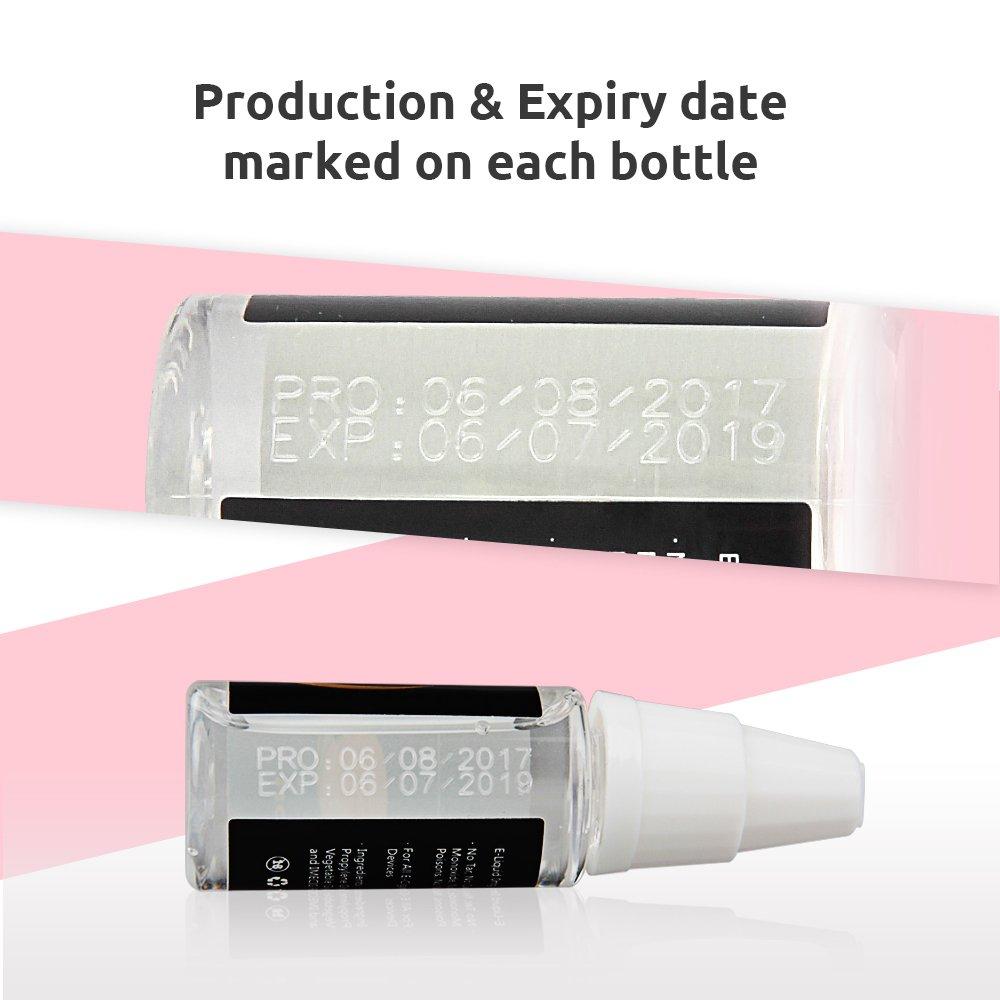 IMECIG® E-Líquido 5x10ml para E-Cigarrillo E-Shisha de Sabor Multifrutas E-Liquid Set con Vegetal para Vapor Vape Mod Kit Sin Nicotina (5x10ml Fruit Combo): ...