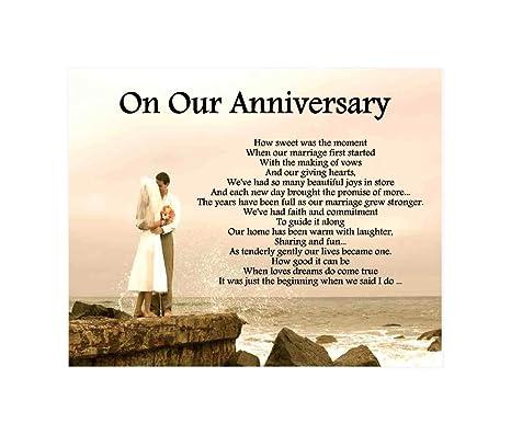 Amazonde Personalisierbar On Our Anniversary Gedicht