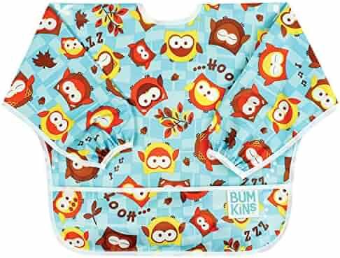 Bumkins Waterproof Sleeved Bib, Owls (6-24 Months)