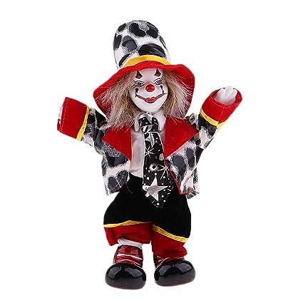 Amazon com: Fenteer 18cm Vintage Hand Painted Porcelain Clown Doll