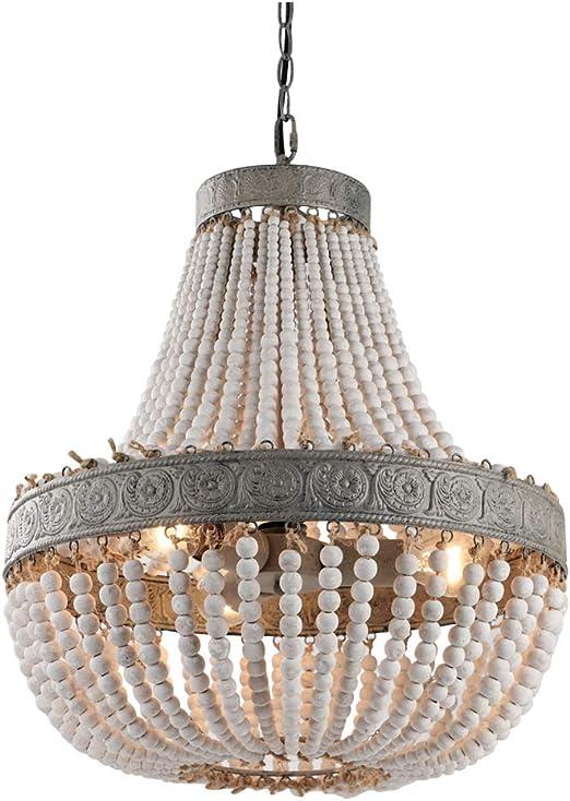 Large Wood Bead Chandelier | Wood bead chandelier, Wooden