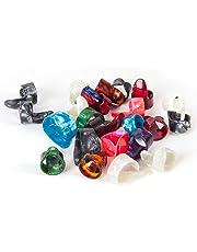 5 Pcs Guitar Thumb Finger Picks and 5 Finger Picks Plectrum Set Celluloid Mix Color