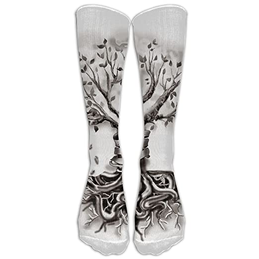 Amazoncom Long Crew Socks Casual Family Tree Tattoo For Men Women