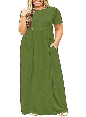 Rotita Womens Plus Size Dresses Casual Summer Maternity Empire Waist