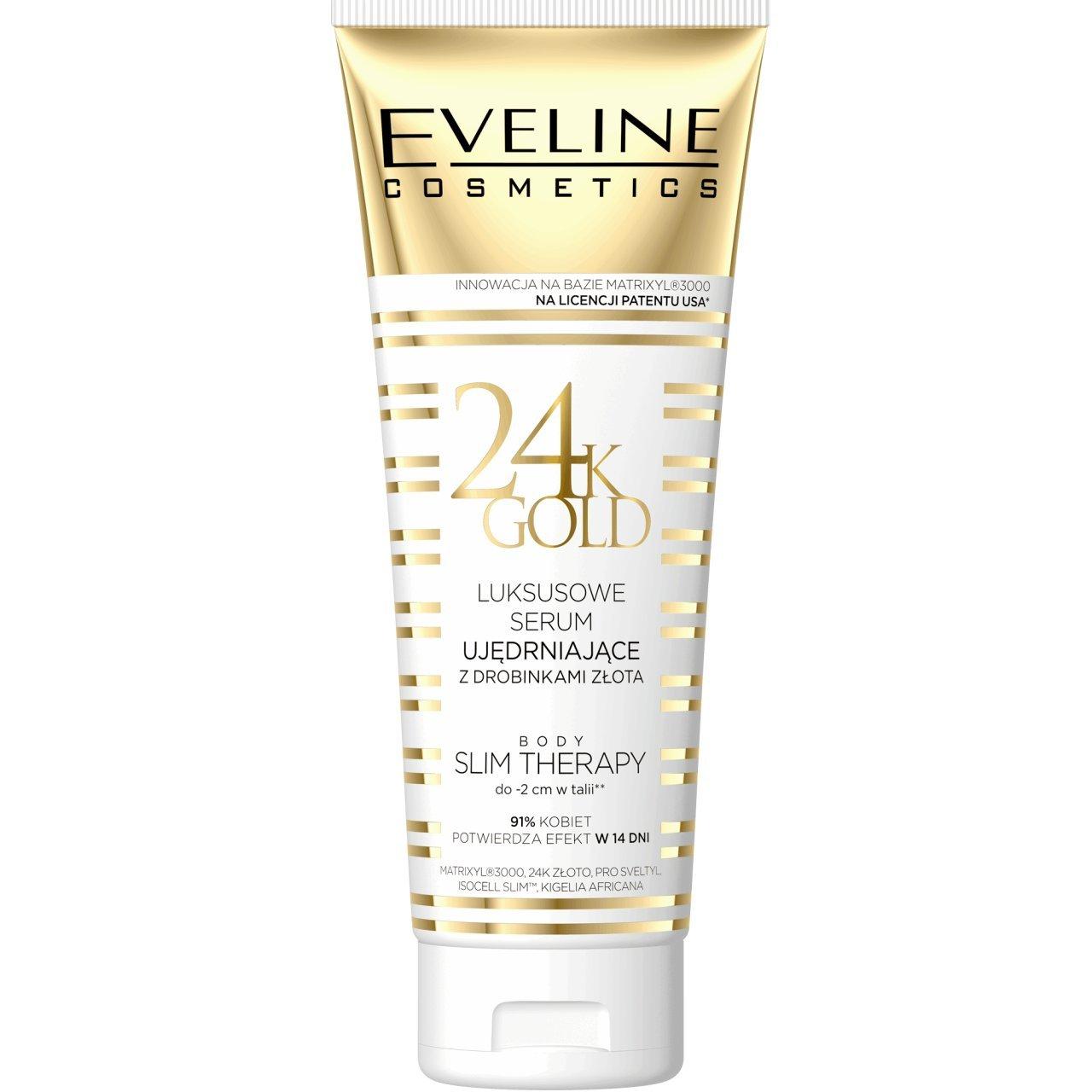 Eveline 24K oro lusso corpo rassodante siero con oro particelle Body Slim terapia