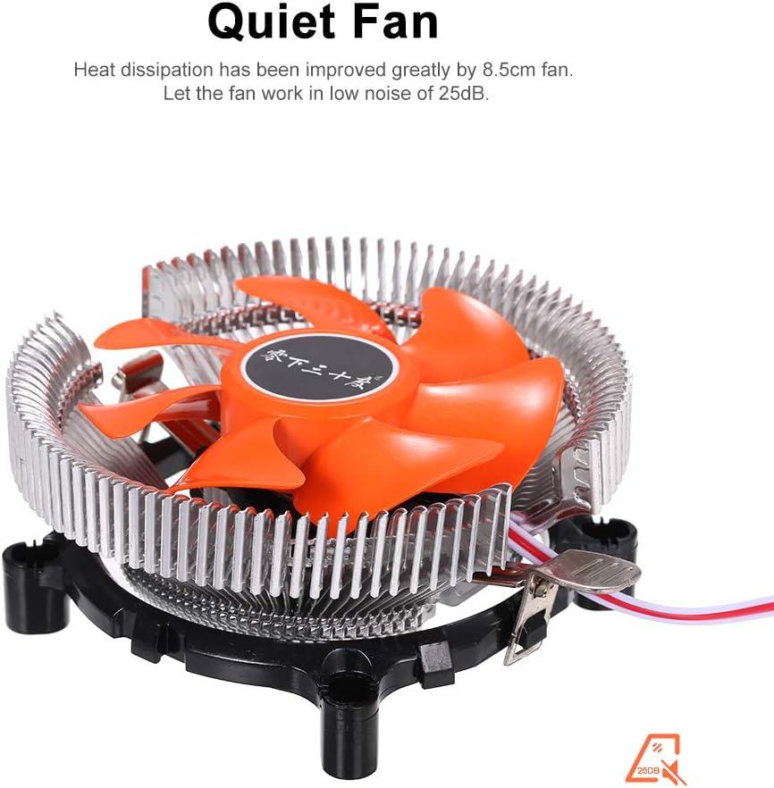 Godyluck Hydraulic CPU Cooler Heatpipe Fans Quiet Heatsink Radiator for Intel Core AMD Sempron Platform