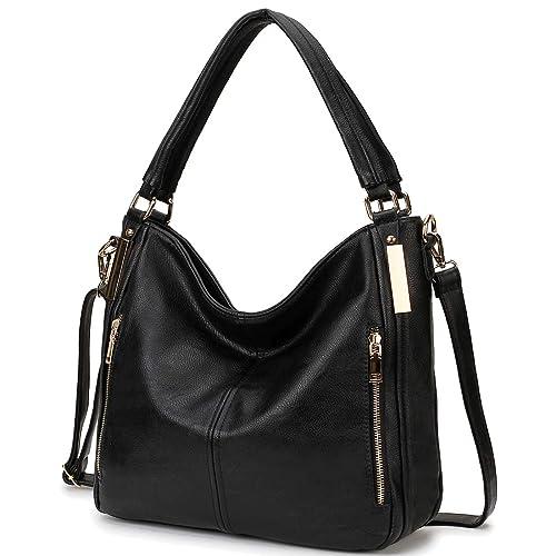 ce4ac9d12f4 RAVUO Womens Handbags Designer Hobo Shoulder Bags Faux Leather Tote Fashion Handbags  Purse with Detachable Shoulder