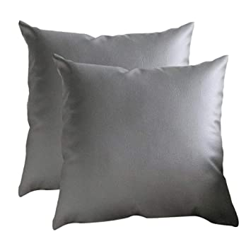 Marvelous Amazon Com Transser 2 Pack Thick Faux Leather Pillow Cover Pabps2019 Chair Design Images Pabps2019Com