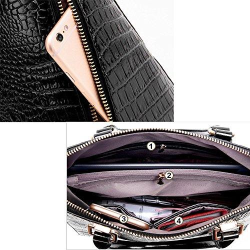 Loisirs Mme Motif Crocodile Simple Messenger Pu Sac Main Qiaoy Mode De Capacité Paquet Pink Grand Shell Marée À Grande Épaule wXxZadqS