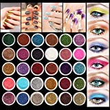 Eyeshadow&Nail Glitter LuckyFine 30Pcs/Set Colors Mixed Glitter Loose Review and Comparison