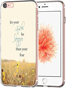 Case for iPhone SE/7/8 Writings Motivational- Topgraph [Exact Slim Fit Clear with Design Full Coverage] Bumper Compatible for iPhone 8/7/SE 2(SE 2020) [ Writings Inspirational from Books]