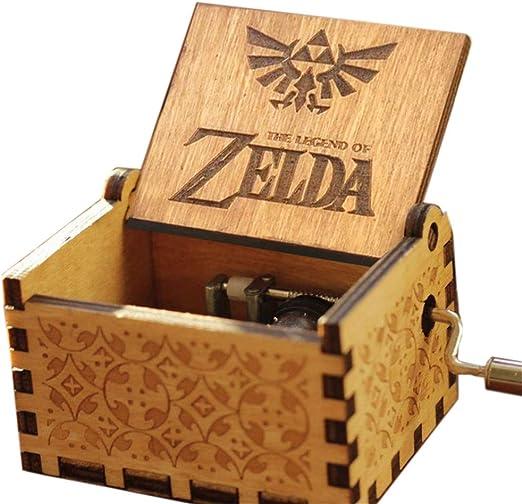 Cuzit The Legend of Zelda Caja de música con diseño Antiguo, Caja de música Tallada a Mano, Caja Musical de Madera, Juguete: Amazon.es: Hogar