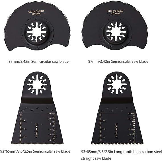 1 Oscillant Multi Outils HCS 3//8 pouces Scie Lames de coupe Cutter Blade 10x40mm