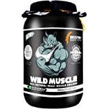 DREXSPORT - Wild Muscle - All Natural Lean Mass Gainer Protein Powder - Blend of Whey Protein Isolate + Whey Protein Concentrate + Creatine HCL + BCAA + Glutamine + Withania - 1Kg Chocolate