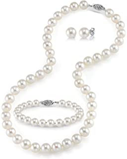 In Workmanship Ladies Pearl Necklace And Matching Bracelet Exquisite