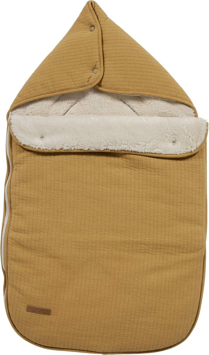 pure ocker gelb LITTLE DUTCH TE40330180 Fu/ßsack f/ür Babyschale 0