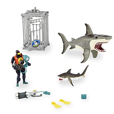 Shark Attack Figure Playset By Animal Planet: Toys & Games