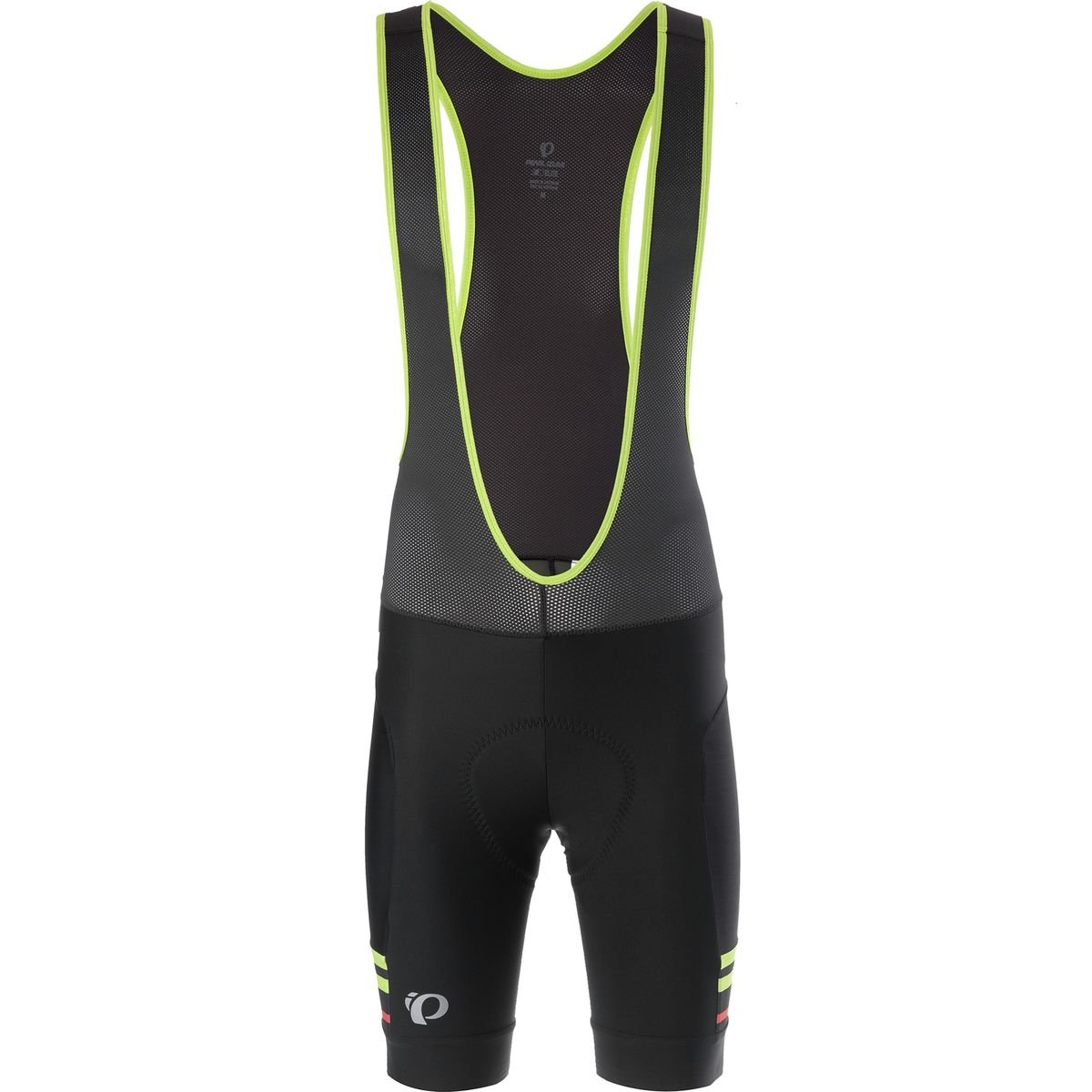 Pearl iZUMi Elite Escape Bib Shorts, Black/Citron, Small