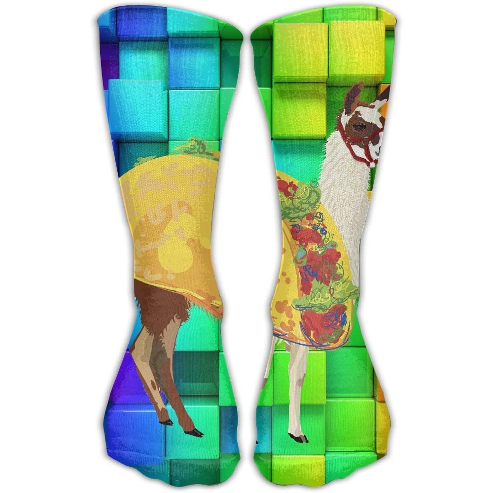 Llama Taco Unisex Novelty Crew Socks Ankle Dress Socks Fits Shoe Size 6-10 loejrfw