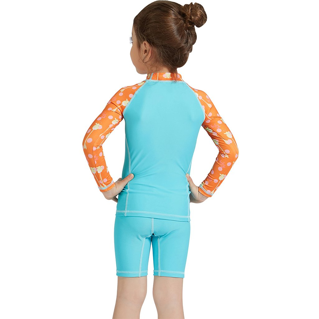 18339d4c0d Gogokids Baby Girls Two-Piece Swimsuit Swimwear - Kids Long Sleeves  Sunsuits UPF 50+ Wetsuits Swimming Cosutme: Amazon.co.uk: Clothing