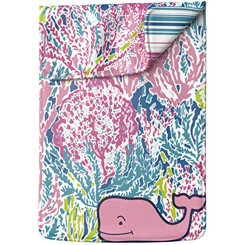 Lex Altern Tablet Sleeve Case for iPad Pro 12.9 11 10.5 9.7 inch Mini 5 4 3 2 1 Air 2 2019 2018 2017 5th 6th 3rd Gen Coral Fashion Pink Whale Lilly Pulitzer Art Cover Protective Lightweight Carrying ()