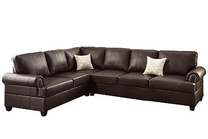 amazon com poundex f7770 bobkona cady bonded leather left or right
