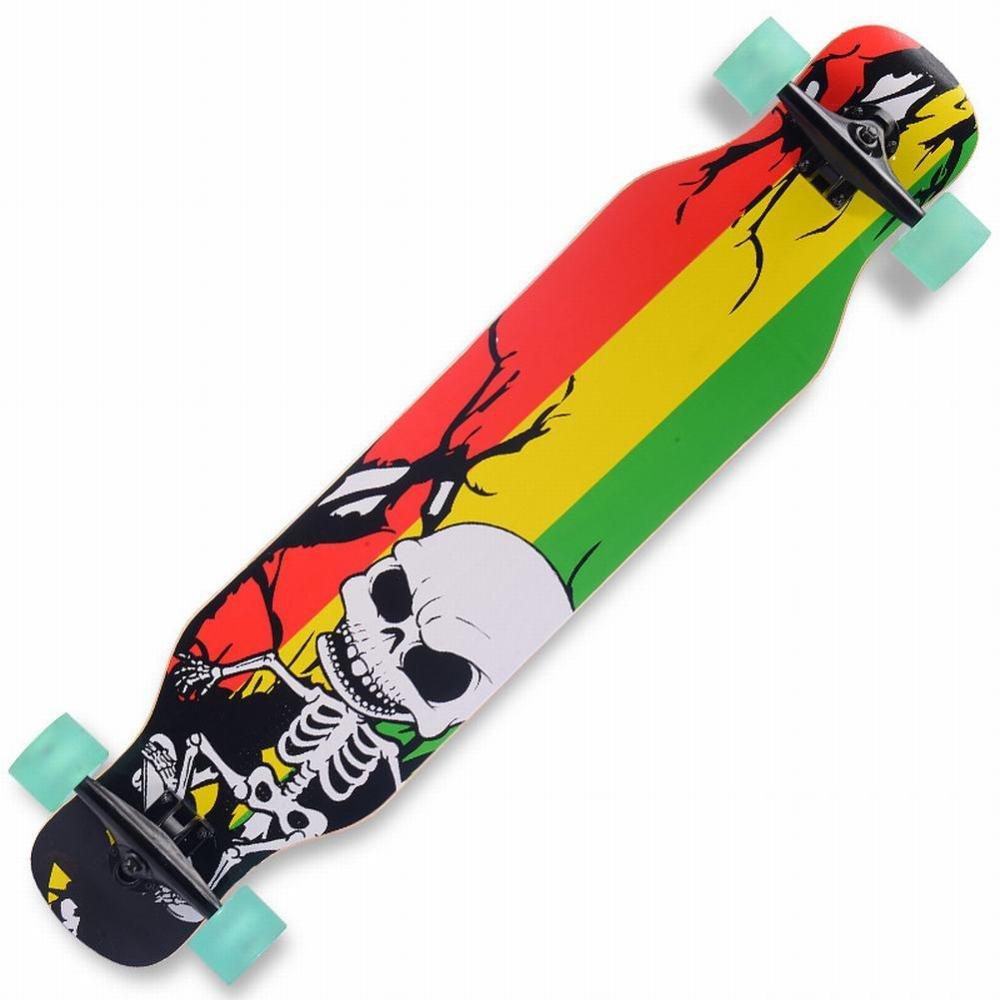 WEII Carretera patineta de Cuatro Ruedas Skateboard Street Street Tablet Hombres y Mujeres Tablero de Baile Tabla de Descenso,Polvo Azul,Un tamaño: ...