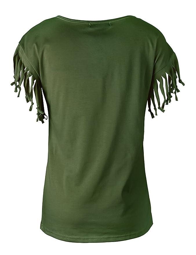 WanYang Damen V-Ausschnitte Kurz kurzarm Lose Langshirt T-Shirt Tops Bluse:  Amazon.de: Bekleidung