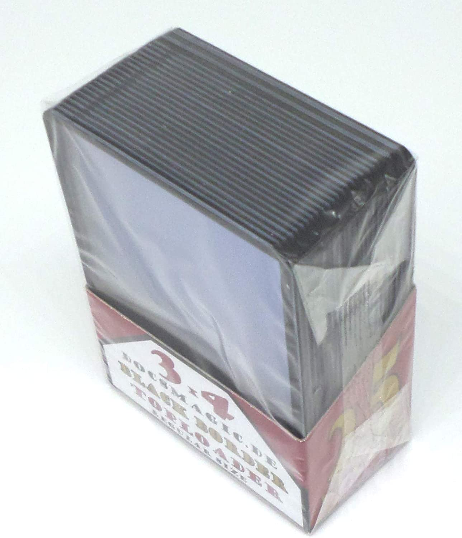 70 x 96 docsmagic.de 25 Toploader Black Border Standard Size 3 x 4