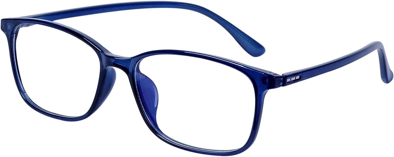 Unisexe cadre rectangulaire Anti Bleu Lunettes de blocage Lunettes cadre objectif Blue Light Filtre ordinateur Glasses jeux dordinateur for les femmes et les hommes Verres bloquant la lumi/ère bleue