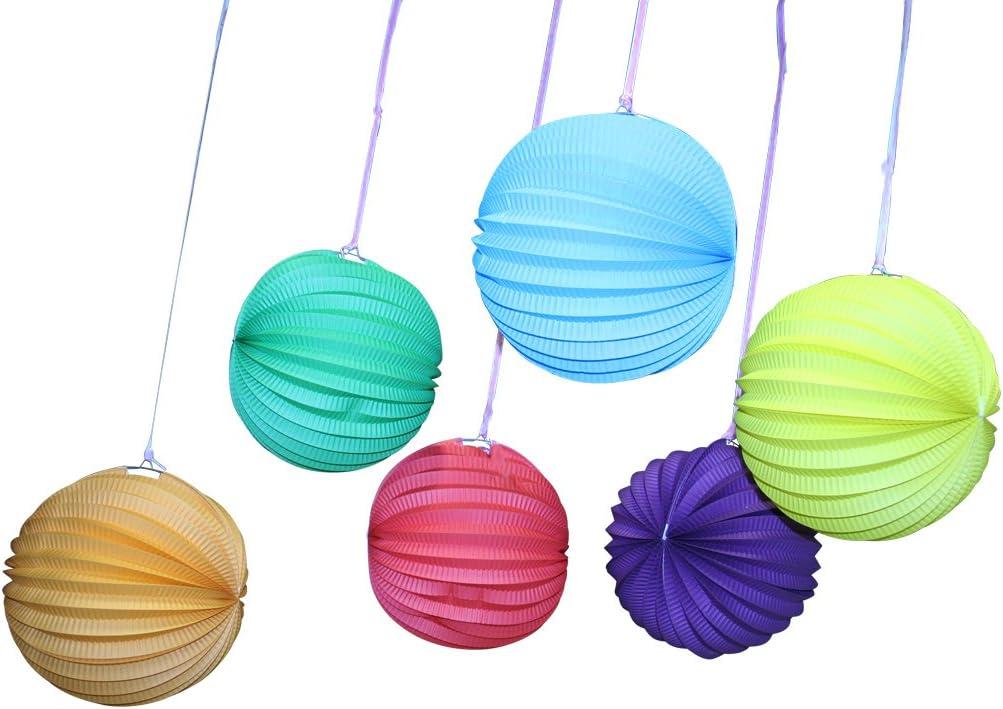 Fun Express - Solid Color Paper Balloon Lanterns - Party Decor - Hanging Decor - Lanterns - 12 Pieces