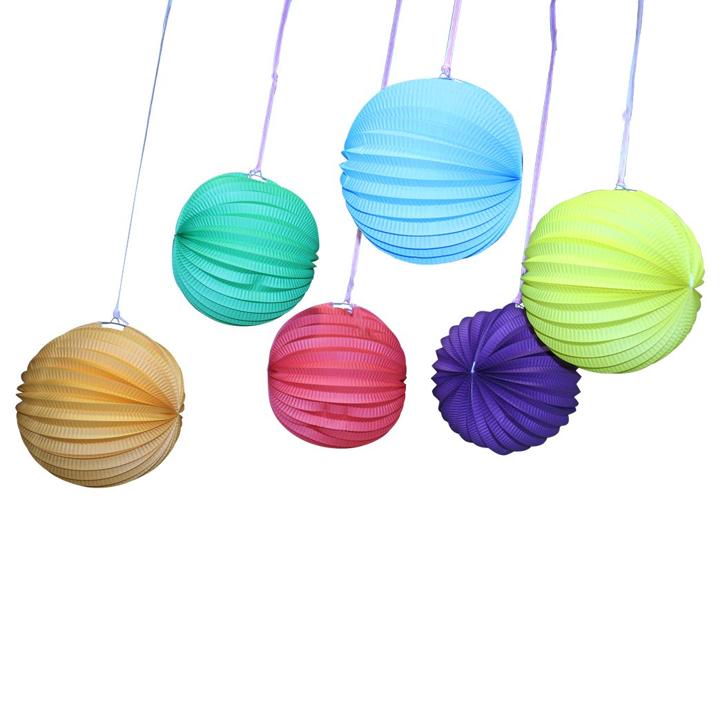 Paper Solid Color Balloon Lanterns (1 dz)