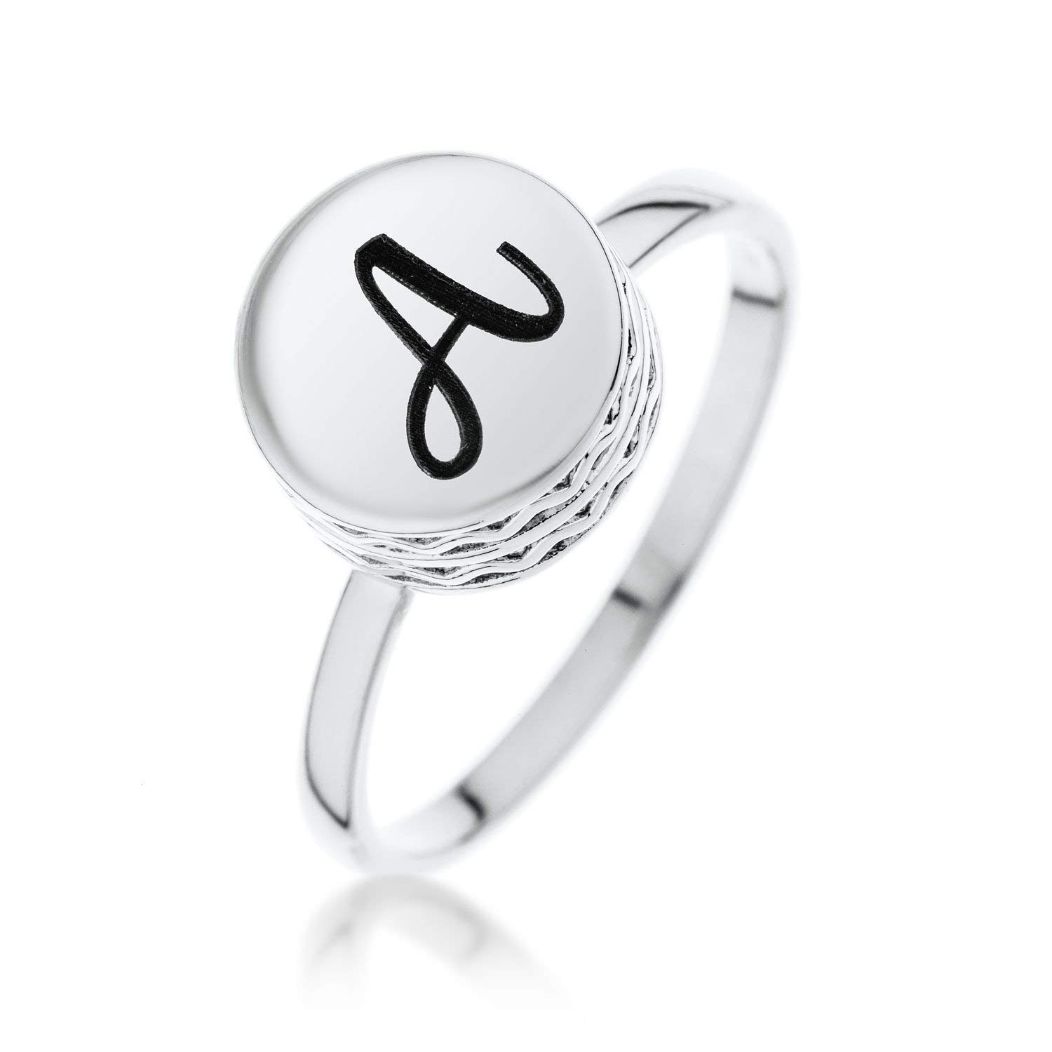 Personalized Sterling Silver Unique Ring for Kids and Adult