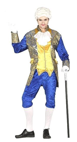 Traje de  noble Veneciano - Disfraz de marqués Azul Adulta.