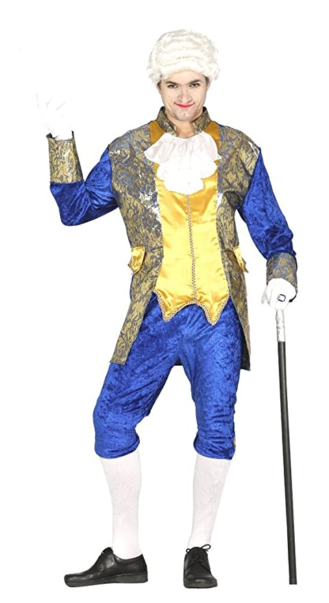 Costume marchese conte nobile uomo veneziano blu  Amazon.it  Sport e ... 72c1668417b