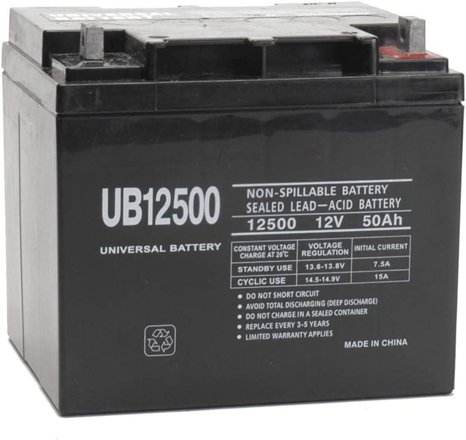 12V 50Ah Power Chair Battery Replaces M40-12, M50-12 SLD M 618CEHL1-YLSL1000_