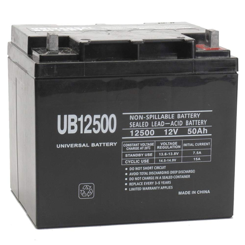 12V 50Ah Wheelchair Battery Replaces 44ah Power Patrol SLA1161