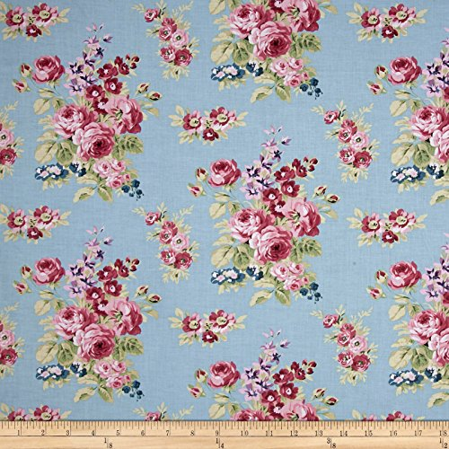 Riley Blake Designs Anne of Green Gables Floral Blue Fabric By The Yard (Fabric Floral Rose)