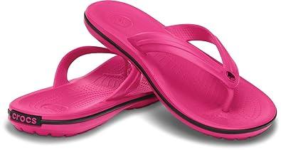 149453b6144c3 crocs Unisex s Crocband Flip Candy Pink Flip-Flops-M7W9 (11033-6X0 ...