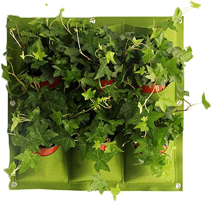 vientiane Colgar en la Pared Bolsas de Plantación, Plantador Verde ...