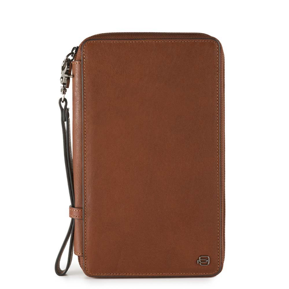 Piquadro Black Square Passport Wallet, 1 liters, Brown (Cuoio Tabacco)