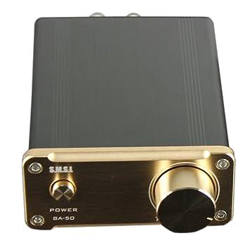 SMSL SA-50 T-AMP SA50 2 x 50 W Amplificador Digital Clase D dorada (Golden)