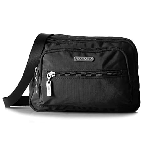 Baggallini Triple Zip Cruz-cuerpo, la cartera o la cintura del bolso del organizador