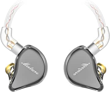 SIMGOT MT1 in-Ear Monitor Headphones, Hi-Res IEM Earphones with Dynamic Driver, Noise-Isolating Musician Headset for Singers Drummers, Design HiFi Earbuds with Microphone (Undetachable Cable, Black)
